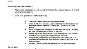 Campaign Speech Template 8 Campaign Speech Examples Templates Pdf Word Sample