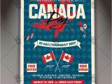 Canada Brochure Template Canada Day Premium Flyer Psd Template Psdmarket
