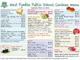 Canteen Menu Template Student Activities Uc Portfolio