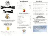 Canteen Menu Template Wattle Grove Primary School