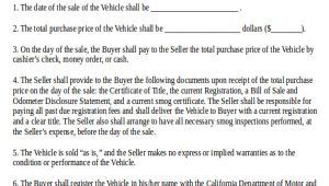 Car Sale Template Contract Sample Used Car Sale Contract 7 Examples In Word Pdf