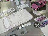 Car Template for Cake Lamborghini Diablo Se30 Car Cake Cakestories Ca
