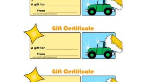 Car Wash Gift Certificate Template 8 Homemade Gift Certificate Templates Doc Pdf Free