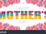 Card Background for Mothers Day Happy Mothers Day Greeting Card Typographic Stock Vector