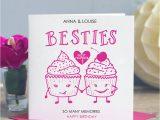 Card Birthday for Best Friend Best Friend Birthday Card Besties by Lisa Marie Designs