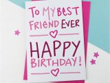 Card Birthday for Best Friend Birthday Card for Best Friend Ever Birthday Card A is