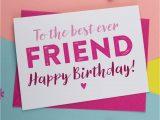 Card Birthday for Best Friend Canvas Birthday Card for Best Friend Birthday Card A