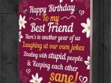 Card Birthday for Best Friend Happy Birthday Card Best Friend Birthday Gift Friendship