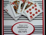 Card Birthday Wishes for Husband S459 Hand Made Birthday Card Using Playing Card Images