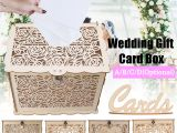 Card Box Ideas for Wedding Details About Diy Wooden Wedding Card Box with Lock Money Gift Rustic Box for Wedding Party
