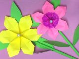 Card Decoration with Paper Flower How to Make origami Flower with Paper Making Paper Flowers