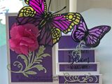 Card Decoration with Paper Flower Paper Ink Cards Crafters Companion Cards butterfly Cards