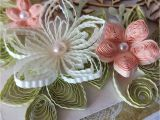 Card Decoration with Paper Flower Quilling Quillingflowers Quillingcards Quillingpaper