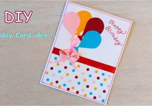 Card Design for Birthday Handmade Diy Beautiful Handmade Birthday Card Quick Birthday Card