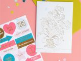 Card Design for Birthday Handmade Diy Klappkarte Monstera