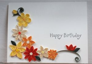 Card Design for Birthday Handmade Handcrafted Birthday Card with Paper Quilled Flowers Mit