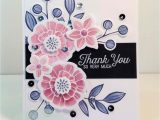 Card Design Handmade Thank You Falling Flowers Thank You so Very Much with Images