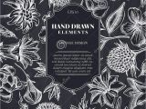 Card Flower Black and White Kartenentwurf Mit Kreideglockenblume Edelweia Globethistle