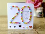 Card for Anniversary with Name Handmade 20th Wedding Anniversary Card 20th Anniversary