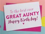 Card for Best Friend Birthday Best Ever Great Aunt Great Auntie Birthday Card