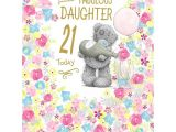 Card Greetings for 21st Birthday Daughter 21st Birthday Large Me to You Bear Card Happy