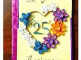 Card Greetings for Wedding Anniversary Bonitahub Multicolour Happy 25th Anniversary Card Buy