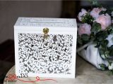 Card Holder for Wedding Gifts Wedding Card Box with Slot Card Box with Lock White
