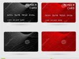 Card Holder Name In Debit Card Modern Credit Card Business Vip Card Member Card Stock