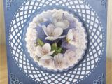 Card Ideas Using Flower Dies Evelyn Michie Made with Hunkydory topper tonic Trellis Die