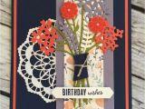 Card Ideas Using Flower Dies Karten Bild Von Lena Tiffner In 2020 Geburtstagskarte