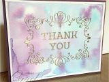 Card Inserts for Handmade Cards Watercolor Thank You Stampinup Letterpresswinter