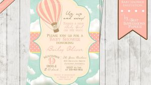 Card Invitation Hot Air Balloon Pin by Nicole Abapo On Baby Shower Ideas Baby Shower