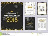 Card Invitation Template Free Download Graduation Class Of 2018 Greeting Card and Invitation