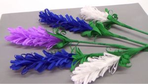 Card Ka Flower Banana Sikhaye How to Make Lavender Paper Flower Flower Making for Beginners Diy Paper Crafts Julia Diy