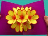 Card Ka Flower Banana Sikhaye Pop Up Card Flower Mother S Day Crafts Tutorial Pop Up Card Mother S Day