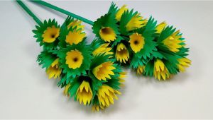 Card Ka Flower Kaise Banaye How to Make Cute Paper Stick Flower Diy Decoration Stick