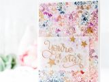Card Making Distress Ink Background Emboss Resist Watercoloured Background Creative Cards