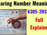 Card Name In Hindi Meaning Bearing Number Meaning In Hindi Od Thickness Explained