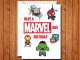 Card Of Life Birthday Chart Marvel Birthday Card Avengers Birthday Card Have A