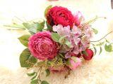 Card Picks for Flower Arrangements Artificial Fake Flowers Koolee Land Lotus Floral Wedding Bouquet Party Home Decor Purple