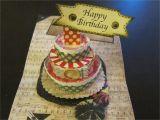 Card Pop Up Birthday Cake 2 Min Tutorial Three Tier Cake Card Mov Paper Craft Videos