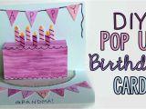 Card Pop Up Birthday Cake Diy Pop Up Birthday Card D
