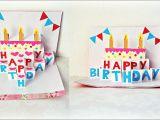 Card Pop Up Birthday Cake Handmade Birthday Greeting Card Diy Birthday Pop Up Card