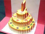 Card Pop Up Birthday Cake Pop Up Birthday Cake Tutorial Con Imagenes Pastelillo