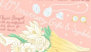Card Queen 60 Wedding Anniversary 60th Wedding Anniversary Ideas Symbols and Gifts