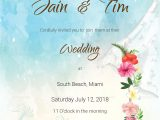 Card Sample for Marriage Invitation Beach Wedding Invitation Card Template In Psd Word