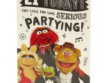 Card Sayings for 21st Birthday 94 Animated 21st Birthday Cards Amazon Muppets 21 today