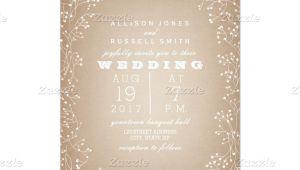 Card Stock for Wedding Invitations Baby S Breath Border Cardstock Inspired Invitation Zazzle
