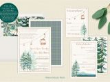 Card Stock for Wedding Programs Ski Druckbare Hochzeitseinladungen Digital Berg Gondel
