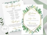 Card Stock for Wedding Programs Wedding Ceremony Program Printable Greenery In 2020 with